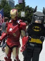 Iron Man and Lego Batman Cosplay by Janan326