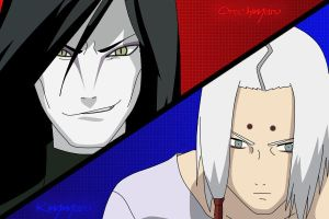 Kimimaru and Orochimaru by HollisIsGod