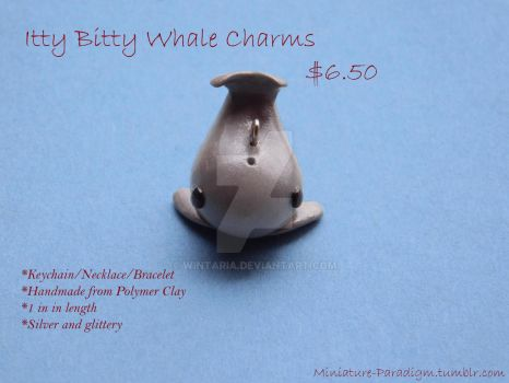 Itty Bitty Whale Charms by Wintaria