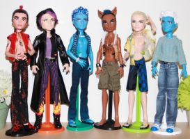 ooak Monster High mansters by rainbow1977