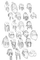 Dwarf Beard Sketches 2 by Faisca2