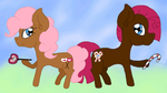 Blinking Gumdrop and SweetTooth (Mane Exchange AT) by porcelainparasite