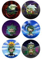 Soul Eater - Buttons Set 1 by reincarnationz