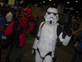 Deadpool And Stormtrooper. by Darth-Slayer