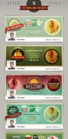 5 Retro Facebook Timeline Cover Templates by hugoo13
