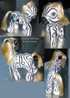 Custom MLP commish - zebra by The-Lancastrian