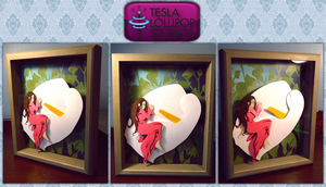 Thumbelina Shadowbox by TeslaLollipop