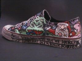 OOGIE BOOGIE HANDPAINTED SHOES by rachelliles352