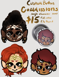 [OPEN] Custom Button commissions by lockoneyes122