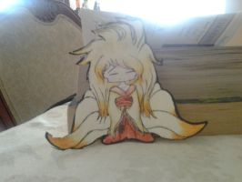First Paper Child- Ninetails Gijinka by IveDiedInside