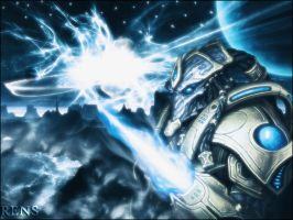Protoss Background by rens666