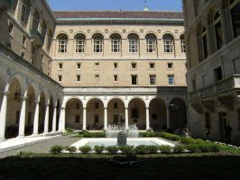 Boston Library Inner Courtyard by rioka