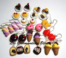 FIMO SWEET EARRINGS MIX by GourmandisesBijoux