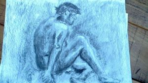 Charcoal Life Drawing by PaulDS89