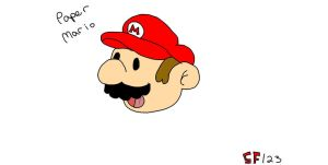 Paper mario first attempt by MarioXMariana