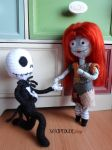 The Nightmare Before Christmas Jack and Sally by Xaxipidudi