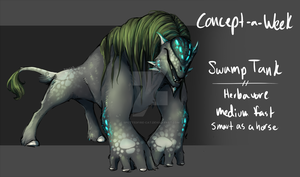 Concept a Week 07 - Swamp Tank by Spottedfire-cat