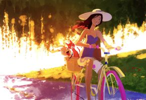 Adelaide goes for a stroll by PascalCampion