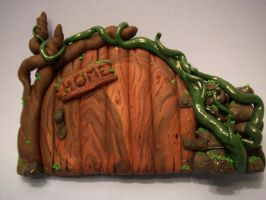 Welcoming Cottage Fairy Door by FlyingFrogCreations