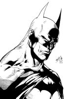 Batman Sketch by edbenes Inked by Kriss777