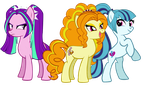 MLP - Dazzlings (Earth Pony forms) by Inkheart7