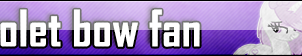 Violet bow|Fan button by BloodLover2222