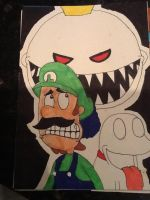 Luigi the cowardly plumber by Iwatchcartoons715
