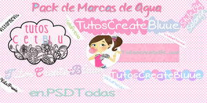 Marcas de Agua PSD BySolange by TutosCreateBluue