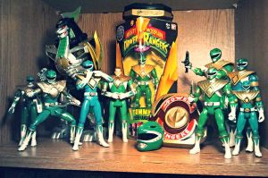 ULTIMATEfigures - My Green Ranger Collection Pic 1 by ULTIMATEbudokai3