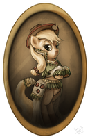 Lady Applejack (Framed) by AssasinMonkey