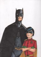 Batman and Robin by Wicked-Texan