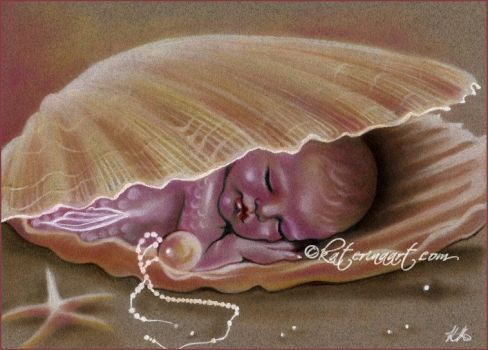 Shells and pearls by Katerina-Art