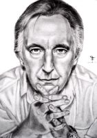 Alan Rickman by tanjadrawing