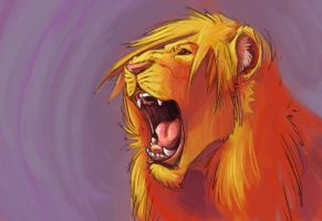 Cheshires Forlorn Lion by L-MakesArt