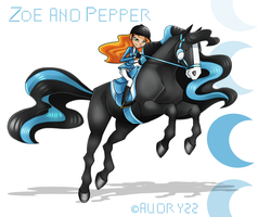 Zoe and Pepper by audry22
