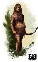 Neanderthal Woman Archer by GoblinEgg00