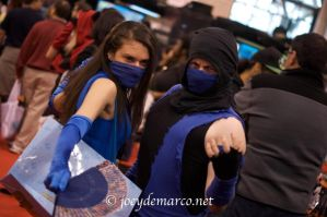 Sub-Zero and Kitana by ruggala08