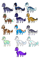 [OPEN] A Lot of Adopts (Old Ocs!) by NightengaleArt