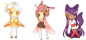 Adoptable Set 3 CLOSED! by le-pink-piglet