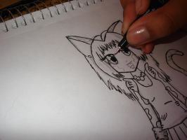 Inking a picture by cali-cat