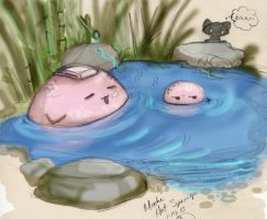 Oishii Mochi Hot Springs by lafhaha