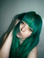 Green Hair Broken Doll by cherrybomb-81