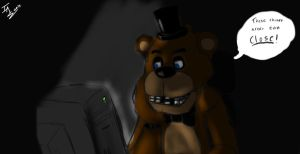 Freddy reading theories for Fnaf3 by BadgerDood
