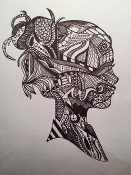 Silhouette Zentangle by Briarsong