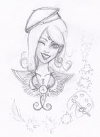 SKETCH - Sailor Apus Bust by Shade-Arts