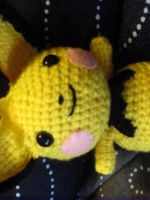 Custom Tufty Pichu Amigurumi by Lunarchik13