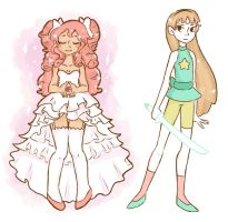 Crossover Madoka Magica and Steven Universe by sam-sketch