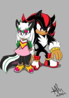 RQ. foxy and shadow by pauladrag17