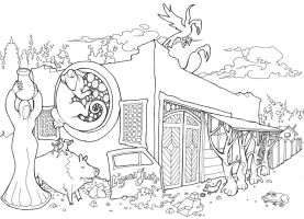 Lizard Flats coloring page by Hop41