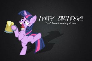 Twilight Sparkle: Ha...ppy Burthay *Hic* by Paris7500